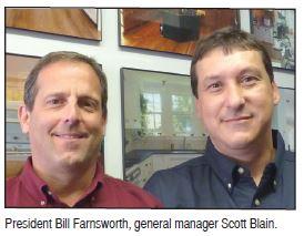 President Bill Farnsworth, general manager Scott Blain.