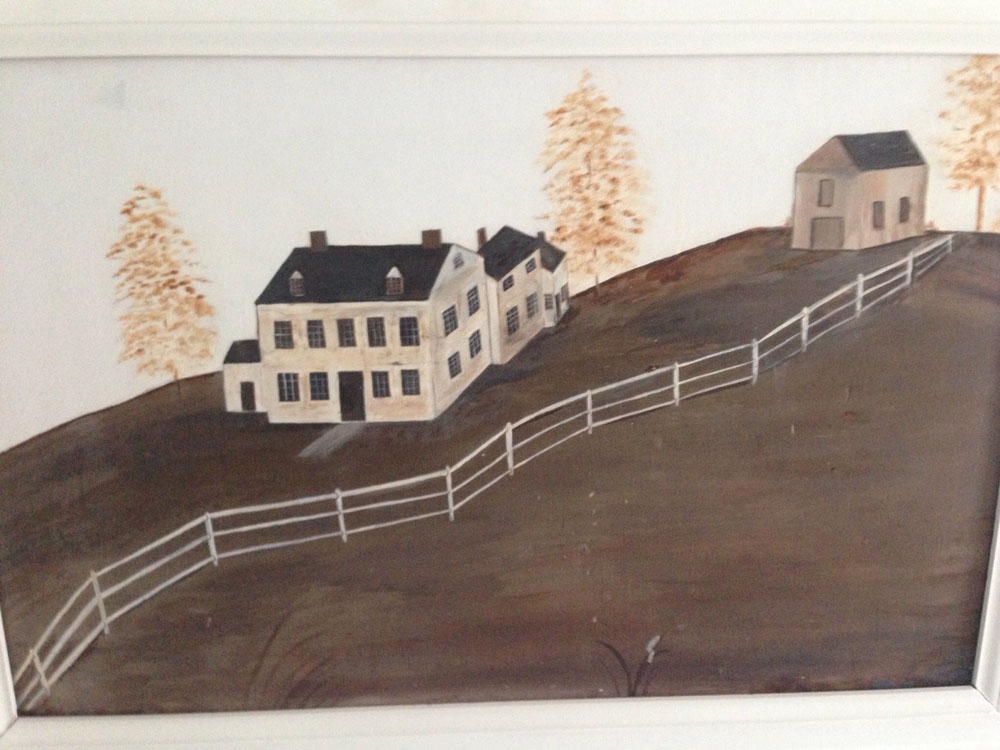 This painting was the inspiration for the new carriage house.