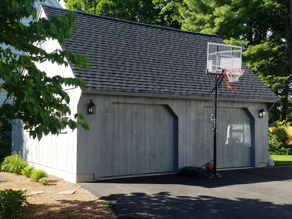The finished carriage house offers garage space while maintaining the integrity of the main home.